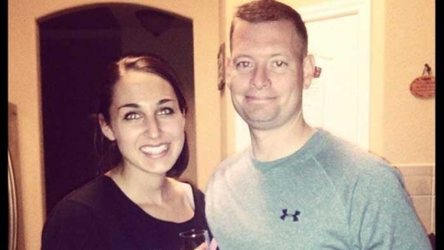 This photo, obtained from WTSP-TV, shows SFC Danny Ferguson and his fiancee Kristen Haley.