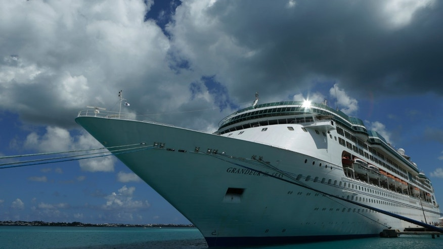 "July 15, 2013: The Royal Caribbean cruise ship ""Grandeur of the Seas"" is seen  while docked at the Royal Naval Dockyard near the port of Hamilton, Bermuda."