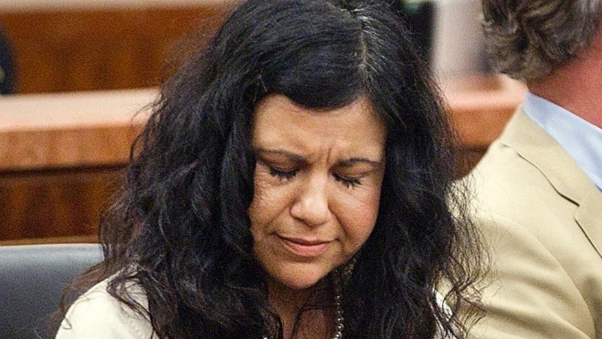 Apr. 8, 2014: Ana Trujillo reacts after being found guilty of killing her boyfriend in Houston.