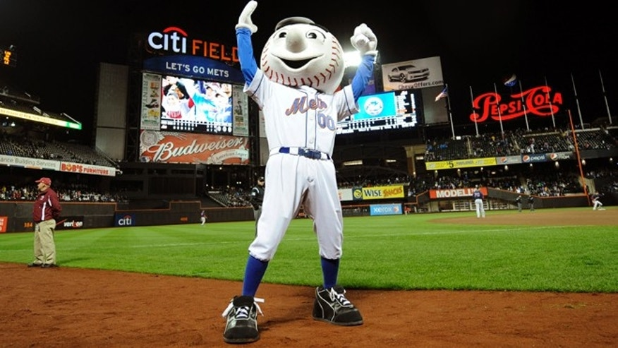 FILE: New York Mets mascot Mr. Met was once eyed by the Secret Service during a President Clinton visit, new book says.
