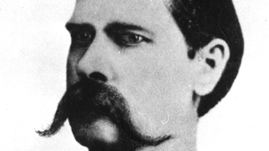 Wyatt Earp headshot, 1881 portrait taken after gunfight at O.K. Corral, Tombstone, Arizona