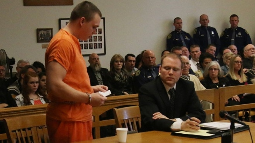 April 8: Eric Knysz reads a statement during his sentencing. Knysz was removed from life-support about 10:30 a.m. Thursday at a hospital in Jackson
