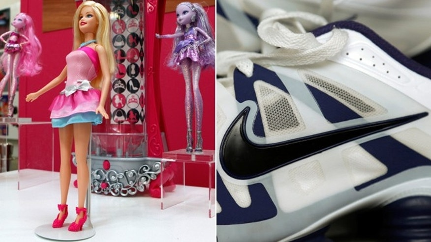 Barbie and Nike are among the easily recognizable product names that have appeared on standardized tests in New York taken by grades three through eight.