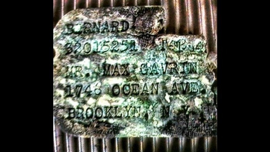 Bernard Gavrin's dog tags were found in a cave in the South Pacific.