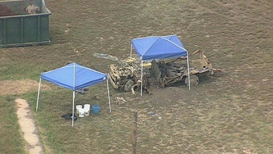 The Hood County Sheriff's Office said the remains believed to be those of a woman missing for 35 years were found in a truck recovered from a North Texas lake.