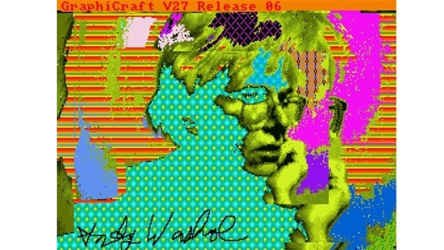 "UNDATED: This image provided by The Andy Warhol Museum in Pittsburgh, Pa., shows ""Andy2"", a piece that is thought to be made by the late pop artist, Andy Warhol, on a computer in 1985."