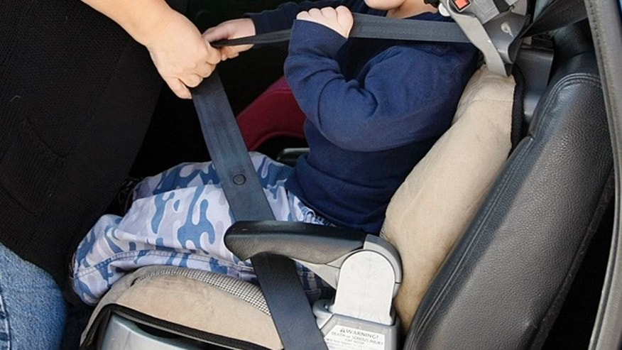 March 25, 2010: A child is strapped into a safety seat in this file photo.