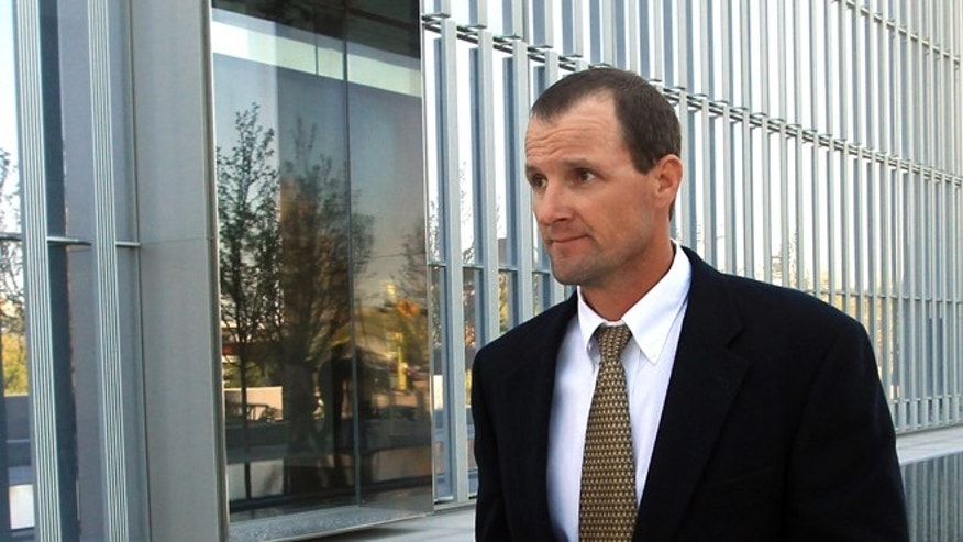Apr. 30, 2014: Jared Ehlers, of Moab, walks from the Federal Courthouse after appearing in court in Salt Lake City.