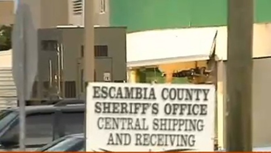 A portion of the Escambia County jail collapsed late Wednesday night after what authorities are calling a gas explosion in the jail's booking center.