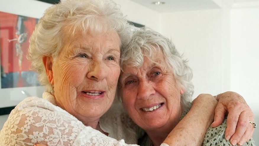 May 1, 2014: Twin sisters, Ann Hunt, left, of Aldershot, England, and Liz Hamel, of Albany, Ore., both 78, reunite at the Fullerton Marriott for the first time since 1936, when they were they were separated at five months old in Aldershot, England.
