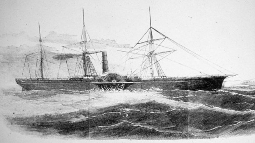The SS Central America, originally launched in 1852 as the SS George Law, was in continuous service on the Atlantic leg of the Panama route between New York and San Francisco. When it sank on Sept. 12, 1857, killing at least 425 of its 477 passengers, it was carrying a large consignment of gold ingots and freshly minted U.S. $20 Double Eagle coins. (Courtesy: Frank Leslie's Illustrated Newspaper, Oct. 3, 1857).