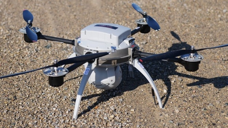 A drone, similar to the one pictured, came close to colliding with a airliner over Florida, prompting fears that drones can potentially damage planes in flight.