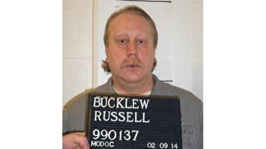 FILE - In this Feb. 9, 2014 file photo provided by the Missouri Department of Corrections is Russell Bucklew who is scheduled to die for killing a romantic rival as part of a crime spree in southeast Missouri in 1996. (AP Photo/Missouri Department of Corrections, File)