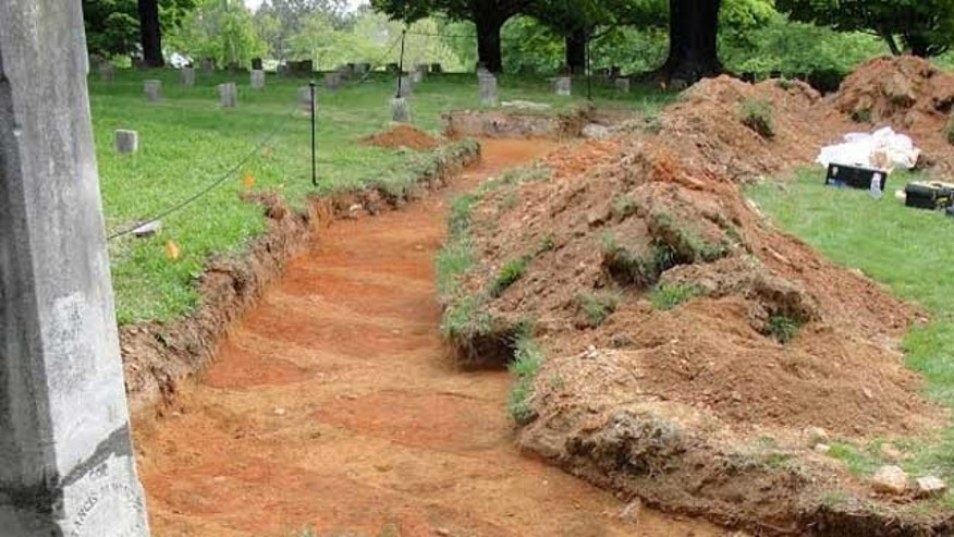 The Old City Cemetery in Lynchburg, Va., where archaeologists recently uncovered the unmarked remains of at least 80 Confederate soldiers.