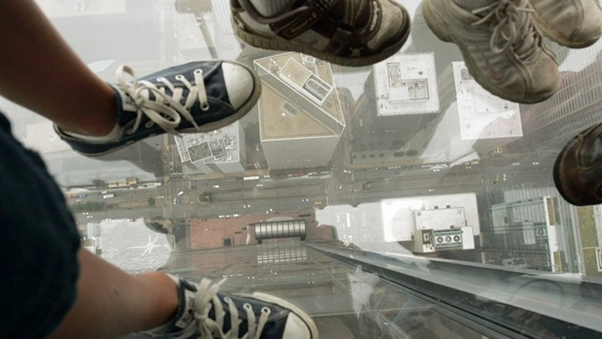 The glass Skydeck on the 103rd floor of the Chicago Willis Tower reportedly began to crack while a family from California stood on it.