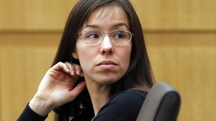 Jan. 9, 2013: Jodi Arias appears for her trial in Maricopa County Superior court in Phoenix.