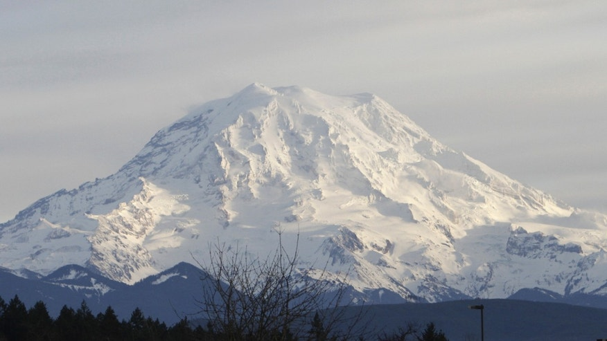 Jan. 1, 2012: A view of Mount Rainier in Washington state.