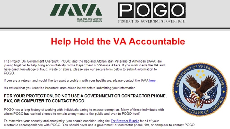 """The joint effort by the Iraq and Afghanistan Veterans of America (IAVA) and the Project on Government Oversight (POGO) aims to """"bring accountability"""" to the department by allowing whistleblowers to expose corruption anonymously."""