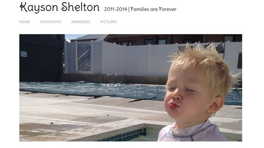 Friends of the Shelton family have set up a website in Kayson's memory.