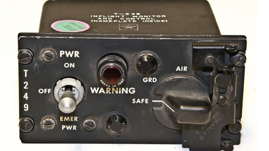 The T-249 switch used to arm nuclear bombs on Strategic Air Command bomber aircraft.