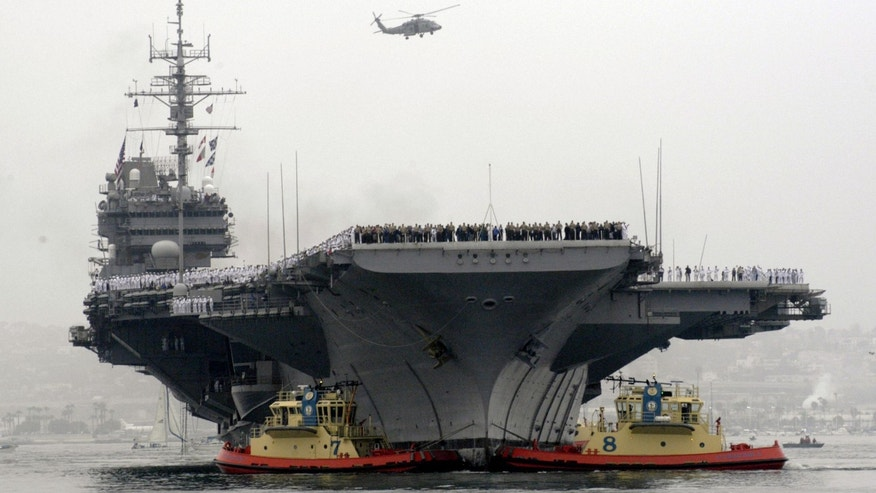 June 2, 2003: The USS Constellation arrives for its final homecoming at Naval AirStation North Island in San Diego.