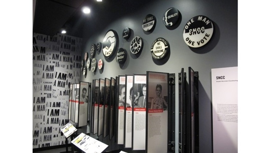 An exhibit from the Center for Civil and Human Rights in Atlanta, Georgia