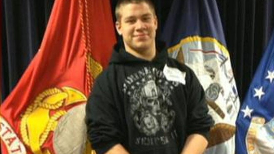 FILE: Brandon Garabrant is shown before his graduation in 2013 from ConVal Regional High School.
