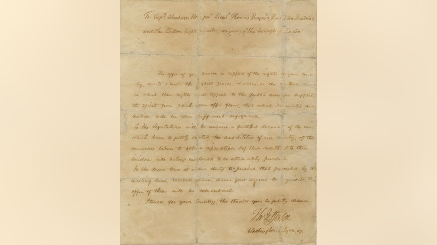 "President Thomas Jefferson praised the spirit of the American people that ""animates our nation"" in this letter from June 22, 1807. (Courtesy: Raab Collection)"