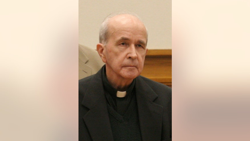 March 11, 2006: In this photo, in Toledo, Ohio, the Rev. Gerald Robinson, a Roman Catholic priest, listens as the verdict is read finding him guilty of killing Sister Margaret Ann Pahl.