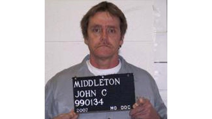FILE - This 2007 file photo provided by the Missouri Department of Corrections shows John Middleton, who was executed Wednesday evening. (AP Photo/Missouri Department of Corrections, File)
