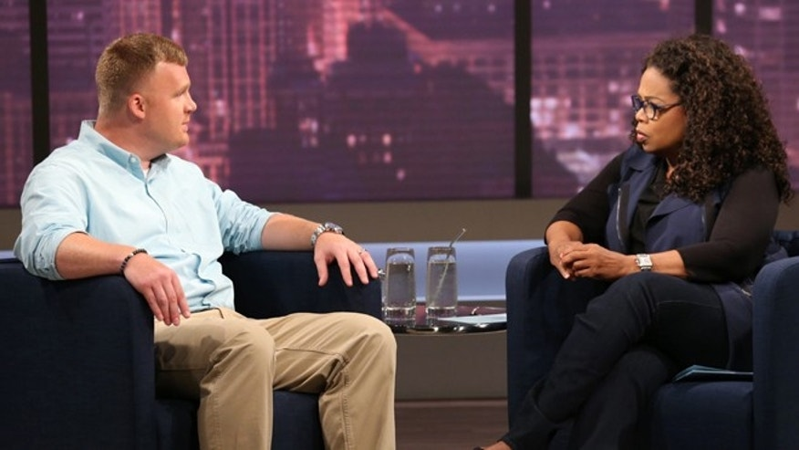 This June 27, 2014 image released by OWN shows Matt Sandusky, the adopted son of former Penn State University assistant football coach Jerry Sandusky, during an interview with Oprah Winfrey. (AP/Harpo, Inc., George Burns)
