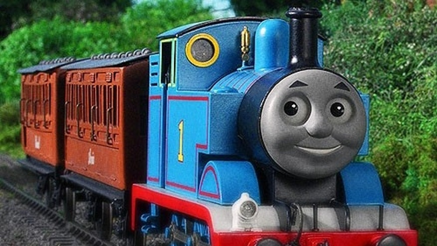 Kids love Thomas the Tank Engine, but a confused grownup in Great Britain doesn't seem to understand. (AP)