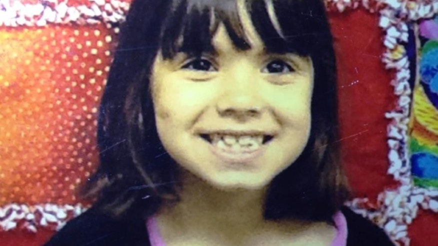 This undated photo provided by the Kitsap County Sheriff's Office shows Jenise Paulette Wright. Kitsap County sheriff's deputies are searching for Jenise, 6, who is missing and was last seen Saturday night, Aug. 2, 2014, at her home in east Bremerton, Wash. Jenise is 3 feet tall, weighs 45 pounds and has black hair. She'll be a first-grader this coming school year. (AP Photo/Kitsap County Sheriff's Office)