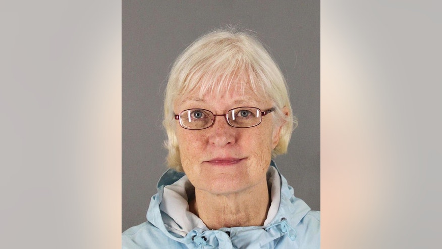 This undated photo released by the San Mateo County Sheriff's Office shows Marilyn Hartman. Federal law enforcement officials say Hartman tried at least three times to breach airport security before she was able to get through a checkpoint without a boarding pass at Mineta San Jose International Airport on Monday, Aug. 4, 2014. (AP Photo/San Mateo County Sheriff's Office)