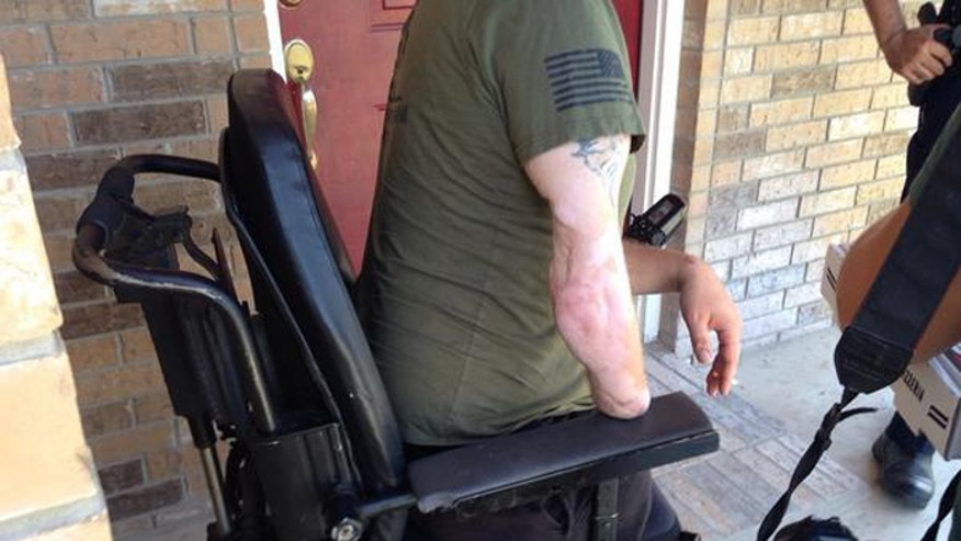 Eberle lost both legs and part of his right arm while serving his country in Afghanistan. (San Antonio Express-News)