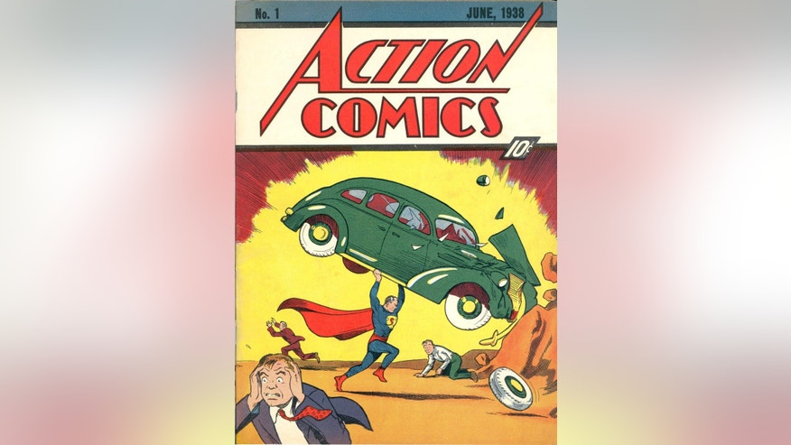 Superman debuts in Action Comics No. 1 in June 1938.