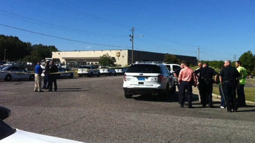 SEPT. 23: A large police presence was seen outside a UPS facility near Birmingham after reports of a shooting.