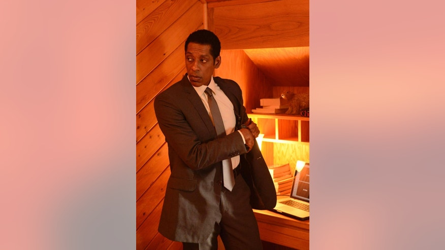 "This photo released by Fox shows Orlando Jones as Cptn. Frank Irving in a scene from the series, ""Sleepy Hollow,"" on the Fox Network. Two of the actors from the Fox TV series, Orlando Jones and Lyndie Greenwood, are cutting a ribbon in the New York village to open the Halloween season. The village administrator says the Headless Horseman is also taking part Friday evening, Sept. 26, 2014.  (AP Photo/Fox, Brownie Harris)"