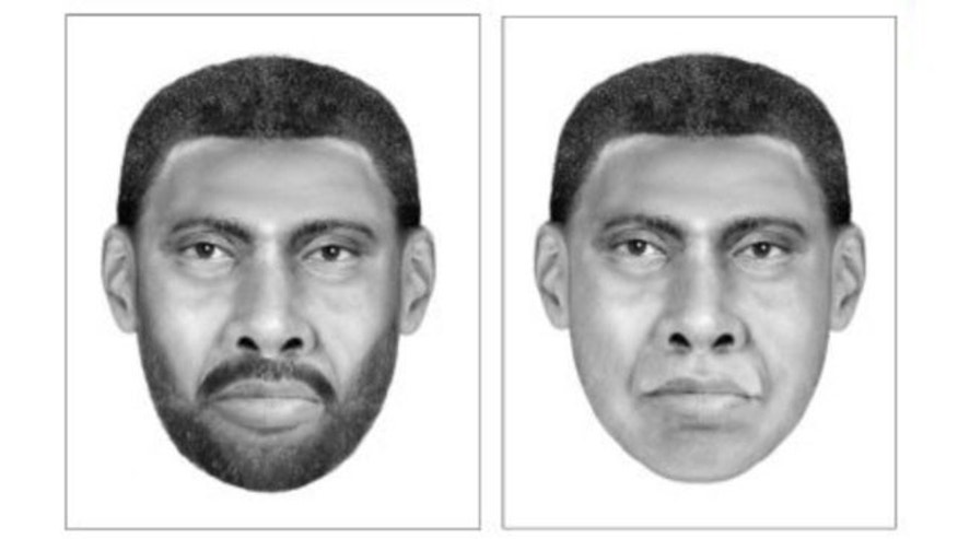 These sketches, released by police, show the suspect in the 2009 disappearance of Virginia Tech student Morgan Harrington, whose body was later found on a farm 10 miles outside of Charlottesville, Va.