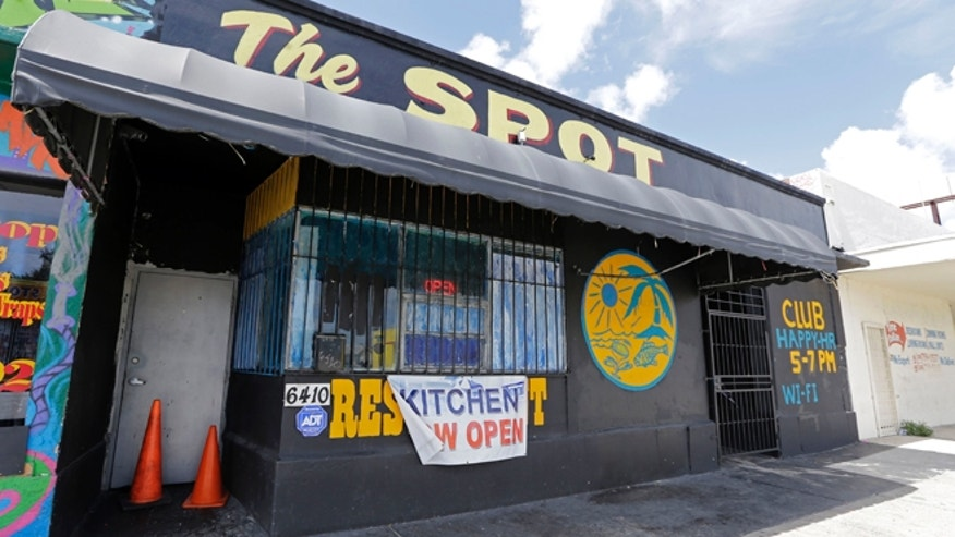 Sept. 28, 2014: The Spot, a club in Miami, Fla., where at least 15 people were wounded in a shooting early Sunday, police said. (AP)