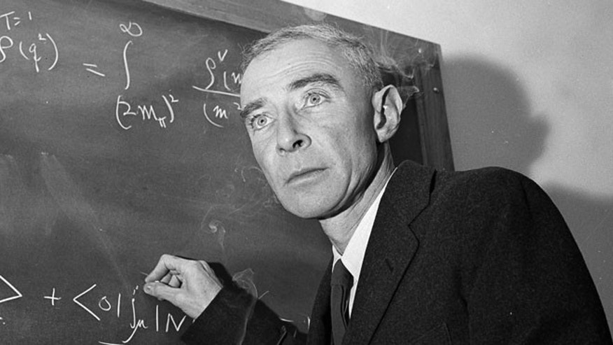 Dec. 15, 1957: Dr. J. Robert Oppenheimer, creator of the atom bomb, is shown at his study in Princeton University's Institute for Advanced Study, Princeton, N.J.
