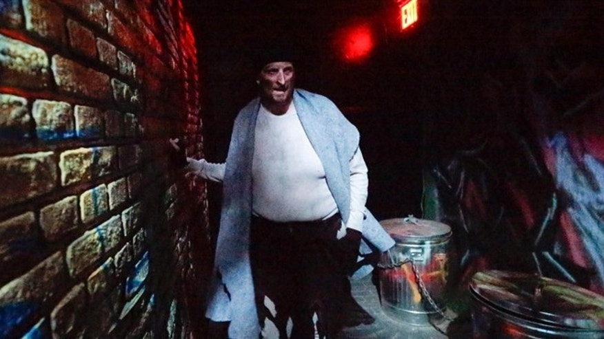 Oct. 2, 2014: An actor performs during Nightmare: New York, a haunted house attraction in New York