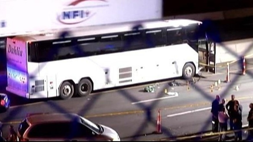 A Connecticut state trooper fatally shot a man police say went on a stabbing spree on board a tour bus.