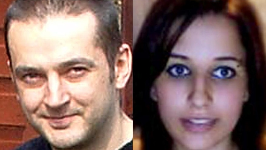 FILE - In this combination of file photos provided by their family is Mark Drybrough, left, from Coventry, England and Nadia Kajouji, from Brampton, Ontario. William Melchert-Dinkel, a former nurse who admitted going online and encouraging Kajouji and Drybrough to kill themselves, was ordered Wednesday, Oct. 15, 2014 to serve 178 days in jail. He was sentenced to nearly five years in prison, but he won't have to serve the prison term if he complies with conditions of probation that include the jail time. (AP Photo/File)
