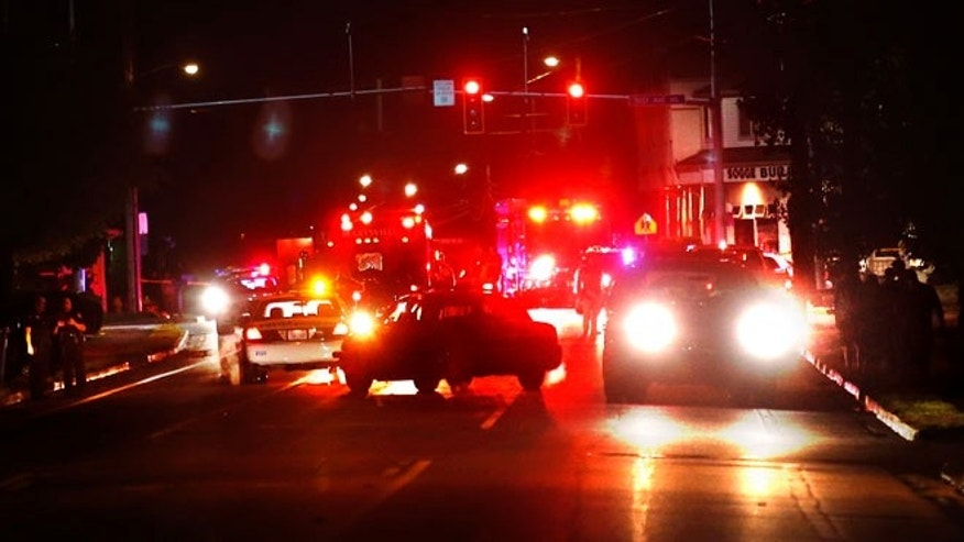 Oct. 15, 2014: Marysville Police block Grove Street after reports of a shooting in Marysville, Wash.