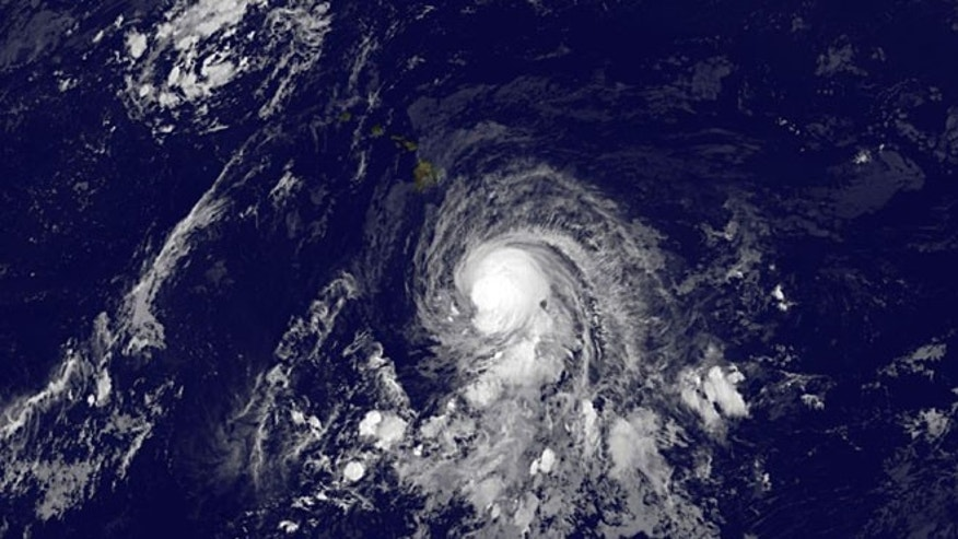 Oct. 17, 2014: This image provided by NOAA shows tropical storm Ana