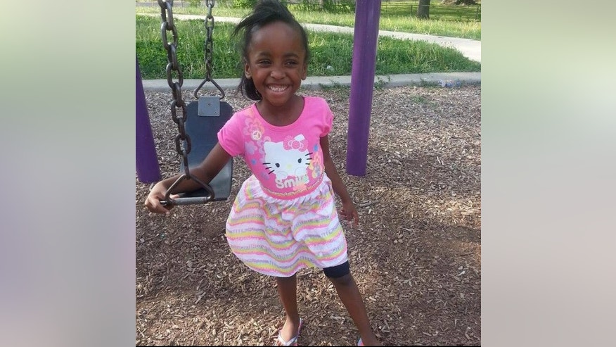 This photo provided by the Hooper family shows 6-year-old Angel Hoopper who died in a drive-by shooting at a convenience store in Kansas City, Mo., Friday, Oct. 17, 2014.  Police said in a news release that Angel Hooper was wounded Friday night when someone in a passing vehicle fired multiple rounds into the parking lot of a 7-Eleven store. She was rushed to a hospital, where she was pronounced dead. Several people were in the parking lot when gunfire erupted. The girl was with a family friend. Police are reviewing surveillance footage and urging anyone with information to call a special hotline. Police Chief Darryl Forté also used Twitter to urge the shooter or shooters to surrender. The message said that Forté didn't believe the girl was the intended victim.  (AP Photo/Hooper Family)