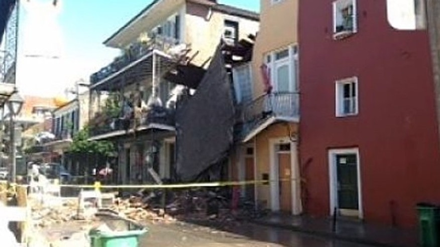 Crews in the French Quarter were working to clear away debris after an additional portion of a 200-year-old building collapsed on Wednesday.