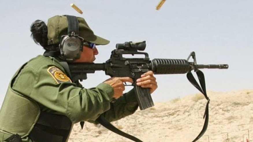 The M4 carbine is the standard weapon for the nation's Border Patrol agents. (AP)