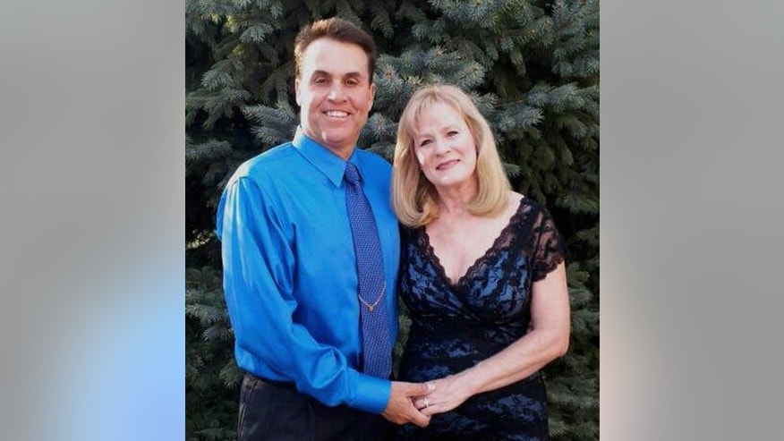This undated photograph provided by the Bertolet family shows Harold Henthorn and his wife, Toni. This week, a federal grand jury indicted Harold Henthorn on a charge of first-degree murder more than two years after his wife, Toni, tumbled face first to her death off a ledge in Colorado's Rocky Mountain National Park. (AP Photo/Bertolet Family)